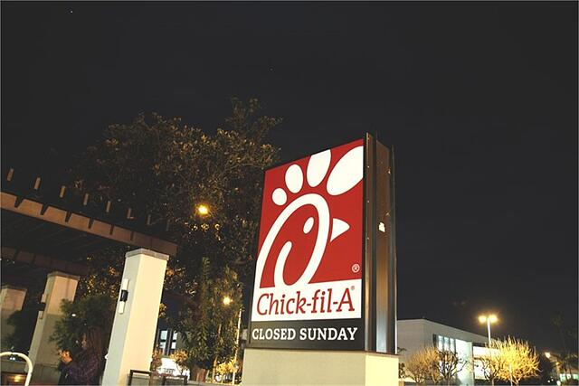 Chick-fil-A Restaurants are closed on Sundays