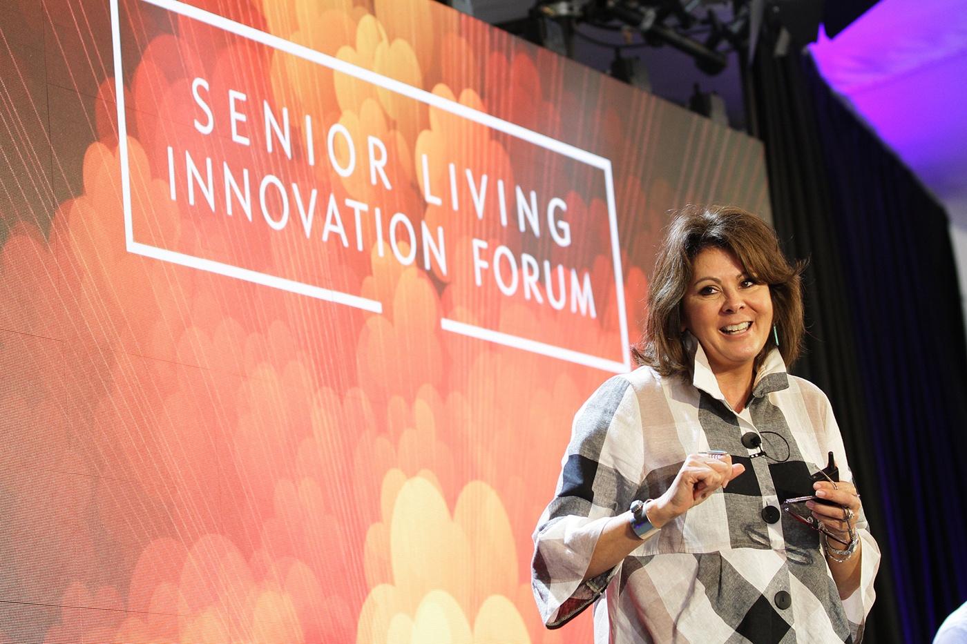 Lena Ernst Retreat Healthcare talking at Senior Living Innovation Forum