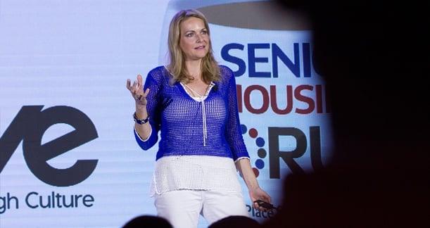 Denise Scott talks at Senior Living Innovation Forum