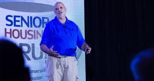 Steve Moran of Senior Housing Forum presents at Senior Living Innovation Forum